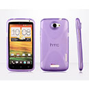 Coque HTC One X X-Line Silicone Gel Housse - Pourpre