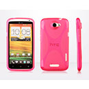 Coque HTC One X X-Line Silicone Gel Housse - Rose Chaud