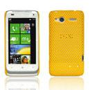 Coque HTC Radar C110e Filet Plastique Etui Rigide - Jaune