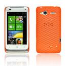 Coque HTC Radar C110e Filet Plastique Etui Rigide - Orange