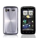 Coque HTC Sensation 4G G14 Z710e Aluminium Metal Plated Etui Rigide - Blanche