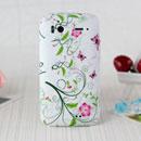 Coque HTC Sensation 4G Z710e G14 Fleurs Silicone Housse Gel - Verte