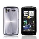 Coque HTC Sensation XE G18 Z715e Aluminium Metal Plated Etui Rigide - Blanche