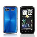 Coque HTC Sensation XE G18 Z715e Aluminium Metal Plated Etui Rigide - Bleu