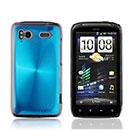 Coque HTC Sensation XE G18 Z715e Aluminium Metal Plated Etui Rigide - Bleue Ciel