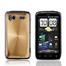 Coque HTC Sensation XE G18 Z715e Aluminium Metal Plated Etui Rigide - Golden