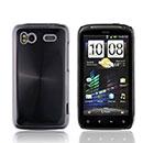 Coque HTC Sensation XE G18 Z715e Aluminium Metal Plated Etui Rigide - Noire