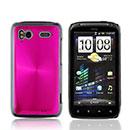 Coque HTC Sensation XE G18 Z715e Aluminium Metal Plated Etui Rigide - Rose Chaud