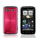 Coque HTC Sensation XE G18 Z715e Aluminium Metal Plated Etui Rigide - Rouge