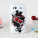Coque HTC Sensation XE G18 Z715e Amour Silicone Housse Gel - Noire