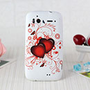 Coque HTC Sensation XE G18 Z715e Amour Silicone Housse Gel - Rouge