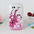 Coque HTC Sensation XE G18 Z715e Fleurs Silicone Housse Gel - Rose