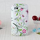 Coque HTC Sensation XE G18 Z715e Fleurs Silicone Housse Gel - Verte