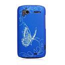 Coque HTC Sensation XE G18 Z715e Papillon Plastique Etui Rigide - Bleu