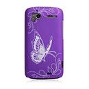 Coque HTC Sensation XE G18 Z715e Papillon Plastique Etui Rigide - Pourpre