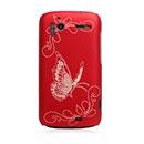 Coque HTC Sensation XE G18 Z715e Papillon Plastique Etui Rigide - Rouge