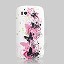 Coque HTC Sensation XE G18 Z715e Papillon Silicone Housse Gel - Noire