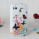 Coque HTC Sensation XE G18 Z715e Papillon Silicone Housse Gel - Verte