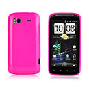 Coque HTC Sensation XE G18 Z715e Silicone Gel Housse - Rose Chaud