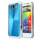 Coque HTC Sensation XL X315e G21 Aluminium Metal Plated Etui Rigide - Bleu