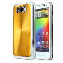Coque HTC Sensation XL X315e G21 Aluminium Metal Plated Etui Rigide - Golden
