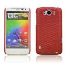 Coque HTC Sensation XL X315e G21 Filet Plastique Etui Rigide - Rouge