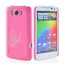 Coque HTC Sensation XL X315e G21 Papillon Plastique Etui Rigide - Rose