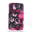 Coque HTC Sensation XL X315e G21 Papillon Silicone Housse Gel - Bleu