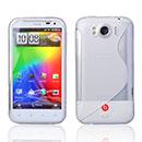 Coque HTC Sensation XL X315e G21 S-Line Silicone Gel Housse - Blanche
