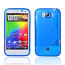 Coque HTC Sensation XL X315e G21 S-Line Silicone Gel Housse - Bleu