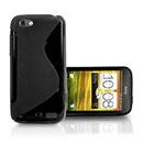 Coque HTC Sensation XL X315e G21 S-Line Silicone Gel Housse - Noire