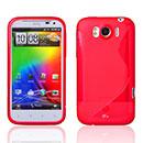 Coque HTC Sensation XL X315e G21 S-Line Silicone Gel Housse - Rouge