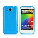 Coque HTC Sensation XL X315e G21 Silicone Gel Housse - Bleu