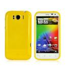 Coque HTC Sensation XL X315e G21 Silicone Gel Housse - Jaune