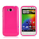 Coque HTC Sensation XL X315e G21 Silicone Gel Housse - Rose Chaud