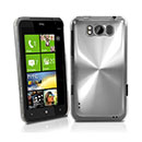 Coque HTC Titan X310e Aluminium Metal Plated Etui Rigide - Blanche