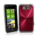 Coque HTC Titan X310e Aluminium Metal Plated Etui Rigide - Rouge