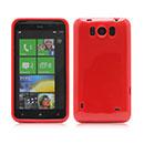 Coque HTC Titan X310e Silicone Gel Housse - Rouge