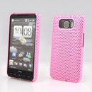 Coque HTC Touch HD2 T8588 Filet Plastique Etui Rigide - Rose