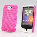 Coque HTC Wildfire G8 Filet Plastique Etui Rigide - Rose Chaud