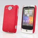 Coque HTC Wildfire G8 Filet Plastique Etui Rigide - Rouge