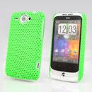 Coque HTC Wildfire G8 Filet Plastique Etui Rigide - Verte