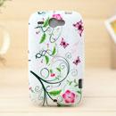 Coque HTC Wildfire G8 Fleurs Silicone Housse Gel - Blanche
