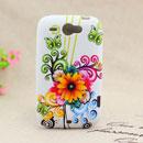 Coque HTC Wildfire G8 Fleurs Silicone Housse Gel - Jaune