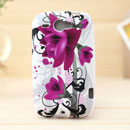 Coque HTC Wildfire G8 Fleurs Silicone Housse Gel - Pourpre