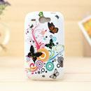 Coque HTC Wildfire G8 Papillon Silicone Housse Gel - Verte