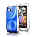 Coque HTC Wildfire S G13 A510e Aluminium Metal Plated Etui Rigide - Bleu