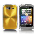 Coque HTC Wildfire S G13 A510e Aluminium Metal Plated Etui Rigide - Golden
