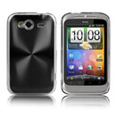 Coque HTC Wildfire S G13 A510e Aluminium Metal Plated Etui Rigide - Noire