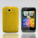 Coque HTC Wildfire S G13 A510e Filet Plastique Etui Rigide - Jaune